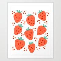 Strawberry Patch Art Print