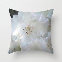 White Satin Throw Pillow