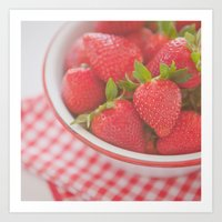 Starwberries Art Print