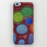 Moving Coloured Round Sh… iPhone & iPod Skin