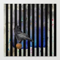 Crow Stripes Canvas Print