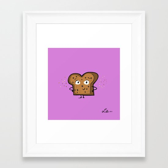 Cinnamon Raisin Toast Framed Art Print