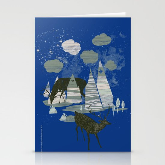 magic mountains Stationery Card