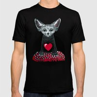 Little Fenek:::Big-hearted Mens Fitted Tee Black SMALL