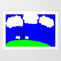 Watching The Clouds Go B… Art Print