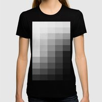 Fifty Shades Of Gradient Womens Fitted Tee Black SMALL