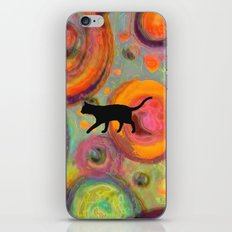 Psychedelic Cat 2 iPhone & iPod Skin