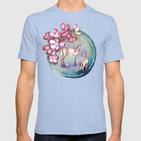 Deer Mens Fitted Tee Tri-Blue SMALL