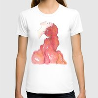 red head Womens Fitted Tee White SMALL