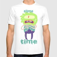 Dally Monster Mens Fitted Tee White SMALL