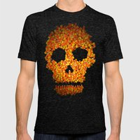 Candy Corn Skull Mens Fitted Tee Tri-Black SMALL