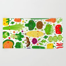 Eat your greens! Beach Towel