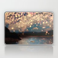 Laptop & iPad Skin featuring Love Wish Lanterns by Paula Belle Flores