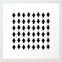 Arrows Black Art Print