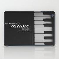 Music Speaks iPad Case