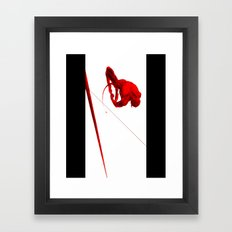 Daredevil Red Framed Art Print