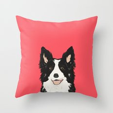 Montana - Border Collie gifts for dog people and dog lovers perfect gifts for a dog person.  Throw Pillow