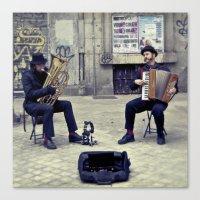 Madrid street Musicians Canvas Print