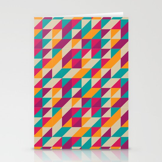 Triangles Pattern Stationery Card