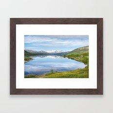Lake Øvre Sjodalsvatnet Framed Art Print