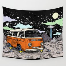 Moon Ride Color Wall Tapestry