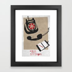Producer Framed Art Print