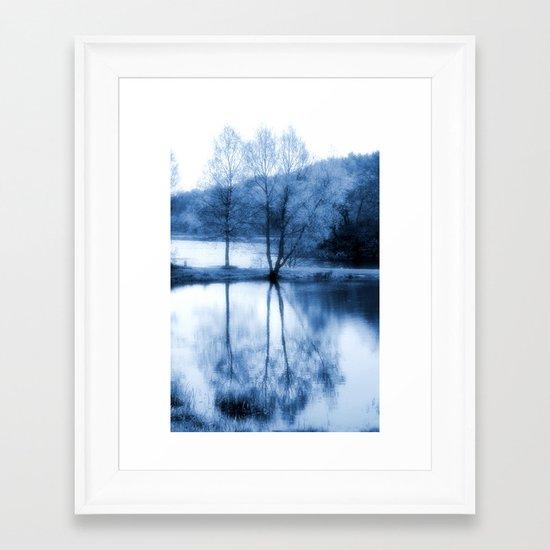 Lake Nights Framed Art Print