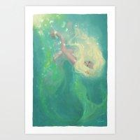 Sea foam Art Print