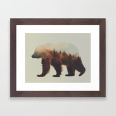 Norwegian Woods: The Brown Bear Framed Art Print