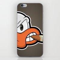 Smoking Duck iPhone & iPod Skin