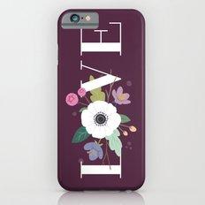 Floral Love - in Plum Slim Case iPhone 6s