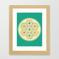 Yey! Shapes!  Framed Art Print