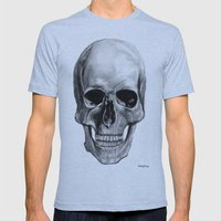 Skull  Mens Fitted Tee Athletic Blue SMALL