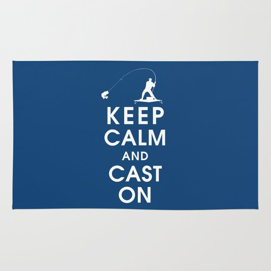 Keep Calm and Cast On Area & Throw Rug