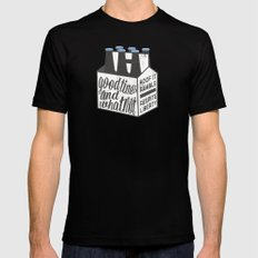 Good Times & Whatnot Mens Fitted Tee SMALL Black