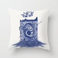 King of the Little Forrest Throw Pillow