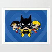 Supertough Girls Art Print