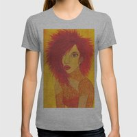 Fire Style Womens Fitted Tee Athletic Grey SMALL