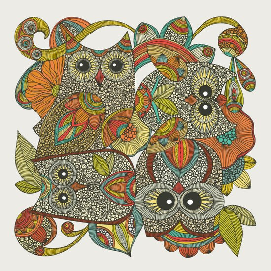 4 Owls Canvas Print