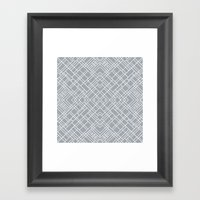 Map Outline 45 Grey Repeat Framed Art Print