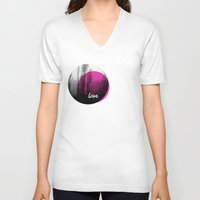 The great love - romantic photography and typography design Unisex V-Neck