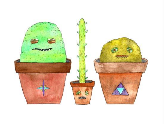 Magic Cacti Art Print