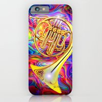 Psychedelic French horn iPhone 6 Slim Case