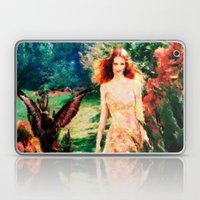 Lady In The Garden - Painting Style Laptop & iPad Skin