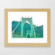 St. Johns Bridge Portlan… Framed Art Print