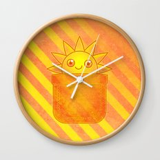 Pocket Full of Sunshine Wall Clock