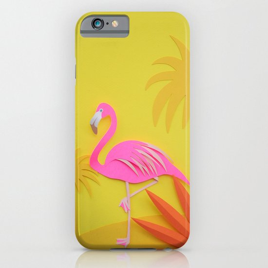 Pink and yellow flamingos! iPhone & iPod Case