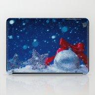 Silver Blue Ornaments iPad Case