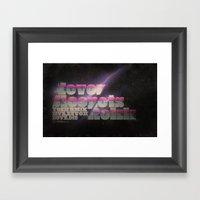 Never Sleep / Lets Rokk … Framed Art Print