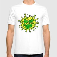 SLIMY Mens Fitted Tee White SMALL